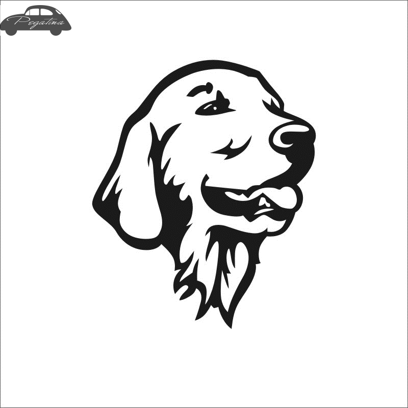 Pegatina Car Golden Retriever Dog Sticker Pet Shop Decal Posters Vinyl Wall Art Decals Quadro Parede Decor Mural Sticker