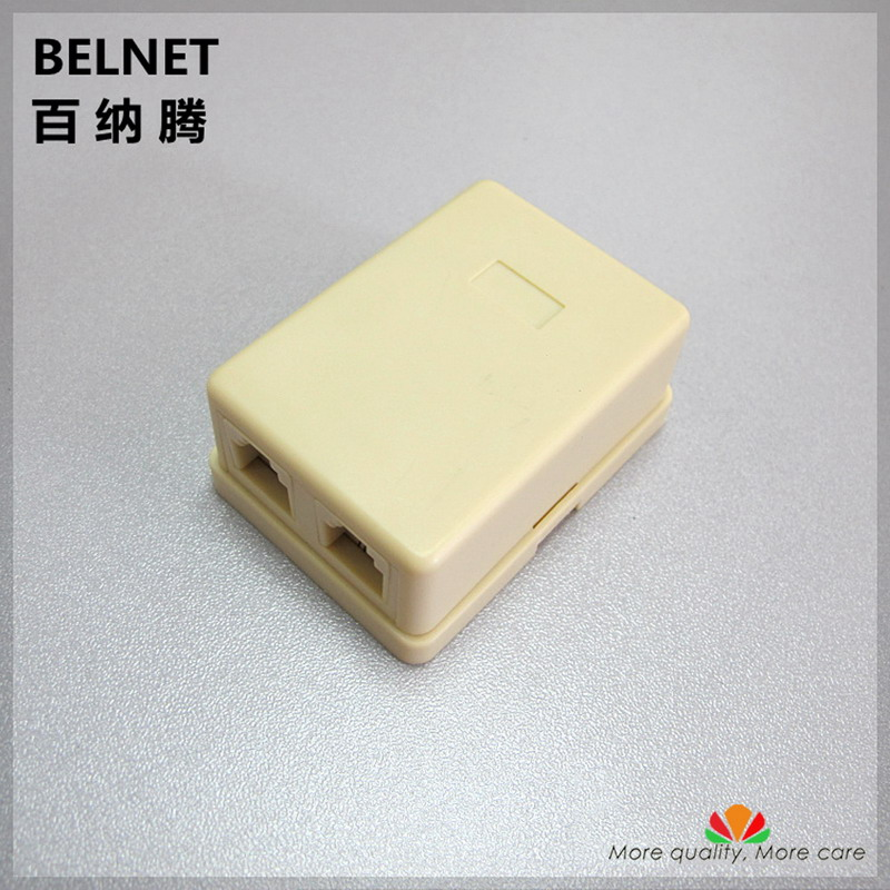 2-port Easy Desktop box telephone junction box 1 into 2 phone line extender box splitter telephone line RJ11 connector