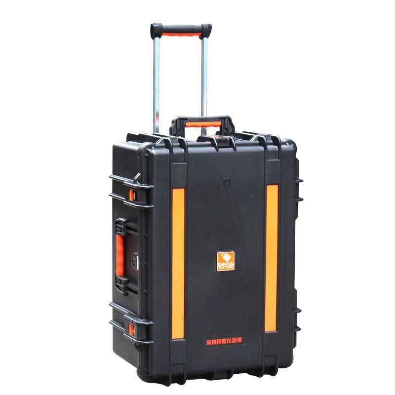 LAOA 影響強化抵抗と防水ポータブルツールボックス楽器トロリー修正ホイールケース