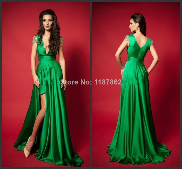 Ed 0265 Emerald Green Dress Long Evening Fashion New 2017 Beach Formal Dresses
