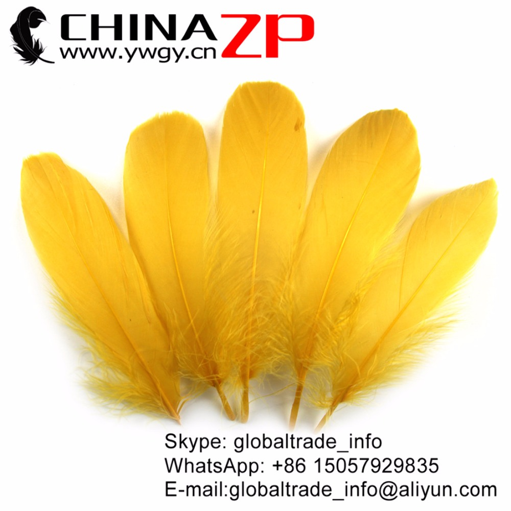 CHINAZP Factory Exporting Quality 200 pcs/lot Eco-friendly Dyed Gold Soft Loose Goose Nageoires Plumage Feathers Crafts