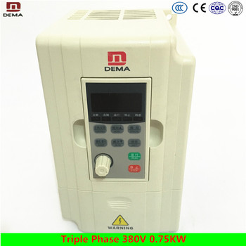 DEMA D5M Series 0.75KW 3 Phase 380V Input VFD Frequency Inverter/Variable Frequency Drive/AC drive variable speed controller