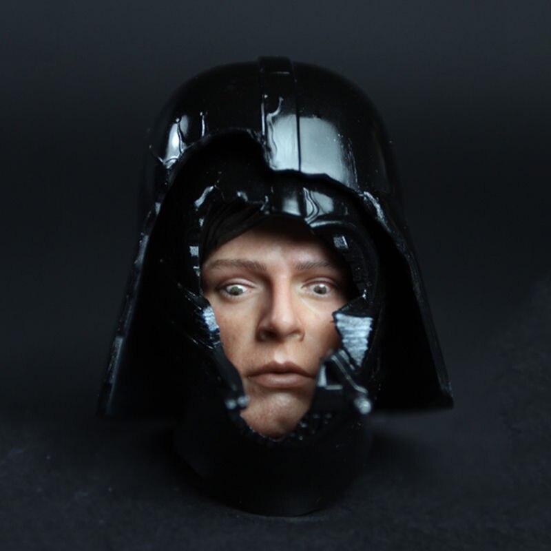 1/6 Échelle HT DX07 VIP Star Wars Darth Vader Casque avec Luke Foncé Font Face à L'intimidation Visage Tête Sculpture Modèle Fit 12