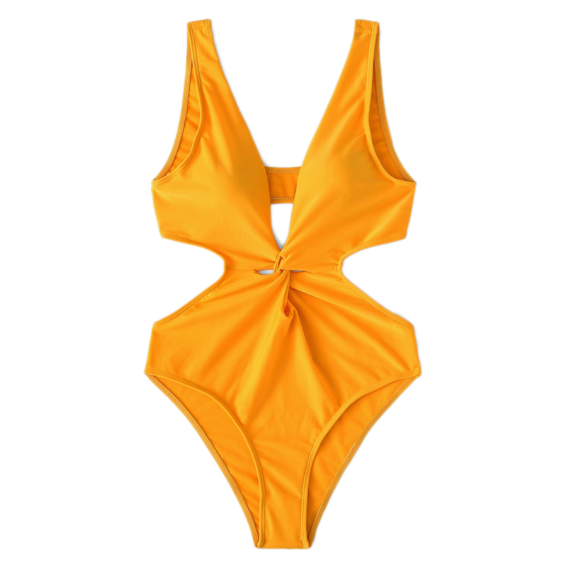 Cut-Out Twist One Piece Swimsuit 10