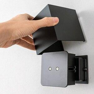 Image 2 - Einstellbar Wand Licht 6W LED Indoor Outdoor Aluminium Wandleuchte Oberfläche Montiert Cube Wand Beleuchtung außerhalb Garten Wand Lampe