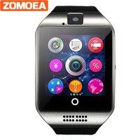 Q18 DZ09 Notificador de Sincronización Del Reloj Inteligente Soporte Facebook Sim Card TF MP3 Bluetooth Reloj Smartwatch Teléfono Conectividad Android GT88