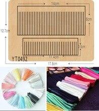 Matrices de découpe de moule en bois pour scrapbooking, bricolage de décoration en franges, Thickness 15.8mm/muyu/YT0492