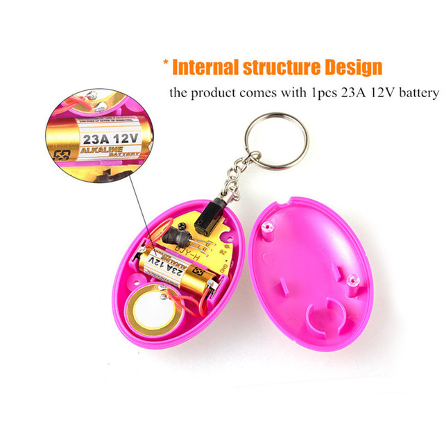 Fuers 1pcs 120DB Keychain Alarm Self Defense Women Security Personal Safety Scream Loud Self Defense Keychain Alarm Self Defence 3