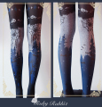 Ruby Ribbit Halloween Themed Gothic Lolita Pantyhose/Tights