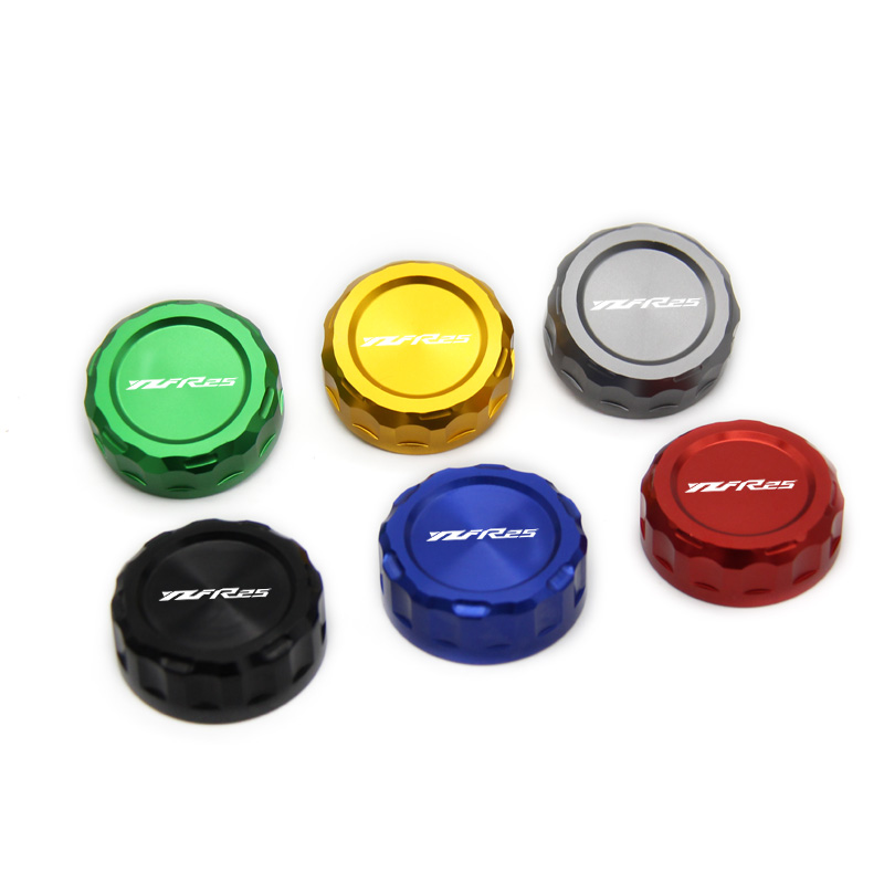 For YAMAHA R1 09-14 R3 R25 13-16 R6 06-14 6color With Logo:YZFR25  Motorcycle CNC Aluminum Rear Brake Fluid Reservoir Cover Cap