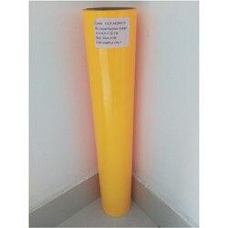 (50cm x 25M/Roll) PU Flex Neon Orange Farbe Wärme Transfer Papier Vinyl Für Kleidung PU Vinyl Film für T shirts Eisen auf Vinyl aufkleber