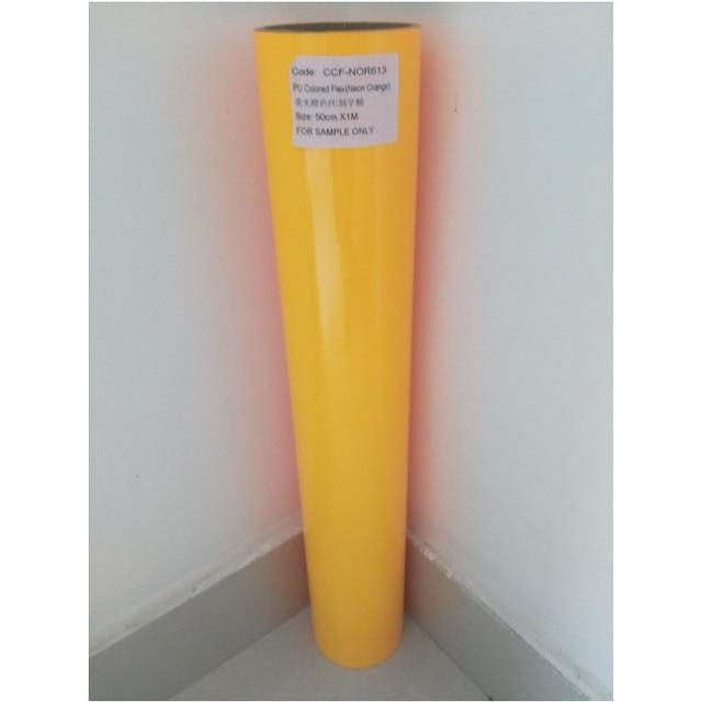 50cmx25mroll Pu Flex Neon Orange Color Heat Transfer Paper Vinyl