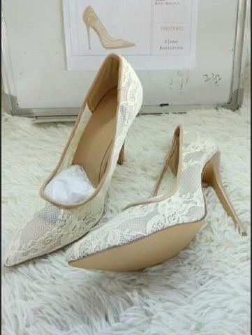 Sommer High Schuhe Elegante Heel Spitze Leder As Flach Pumpe Rutsch Picture Farbe Kleid Nude Frauen Spitz Hohe Aushöhlen Auf Mesh Qualität 4wBp4q