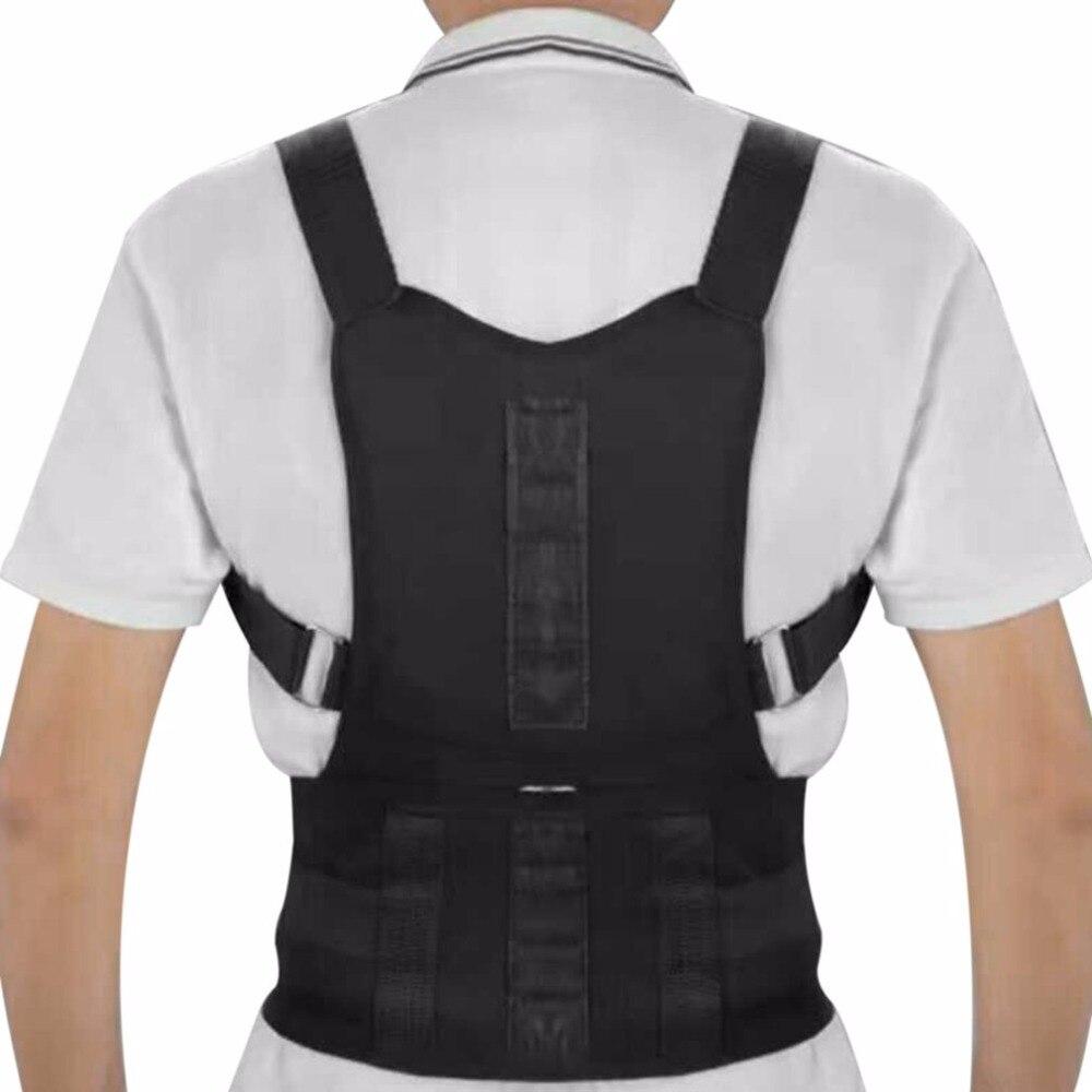 Comfortable Adjustable Men/Women Posture Corrector Corset Back Support Brace Shoulder Back Belt Lumbar Support Black S/M/L/XL