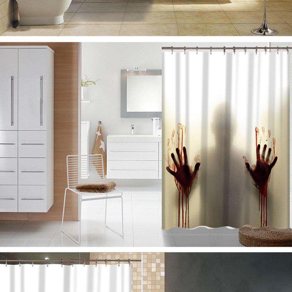 Blutige Hand Horror Benutzerdefinierte Duschvorhang Bad Dekoration ...