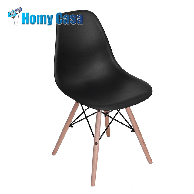 HOMY CASA SET OF 4 Dining Chairs Fashion Household PVC Plastic Dining Chair  For Dining Room