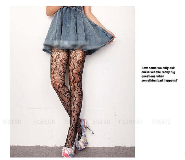 c68d62993 2015 New Women Sexy Fishnet Special Rose Floral Design Female Brand Stockings  Net Pantyhose Ladies Fashion Mesh Tights