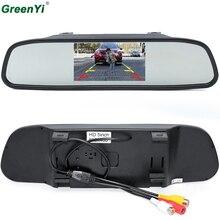 GreenYi HD 800*480 монитор зеркала автомобиля 5 «TFT ЖК-дисплей Парковка автомобиля зеркала заднего вида монитор 2 видео вход подключения сзади/Фронтальная камера