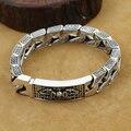 Handcrafted 925 Silver Tibetan Dorje Bracelet Vintage Pure Silver Chain Bracelet Sterling Silver Man Bracelet