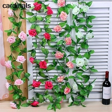 Silk Flower Vine Simulation Roses Wedding-Arch-Decoration for Air-Conditioning Ducts