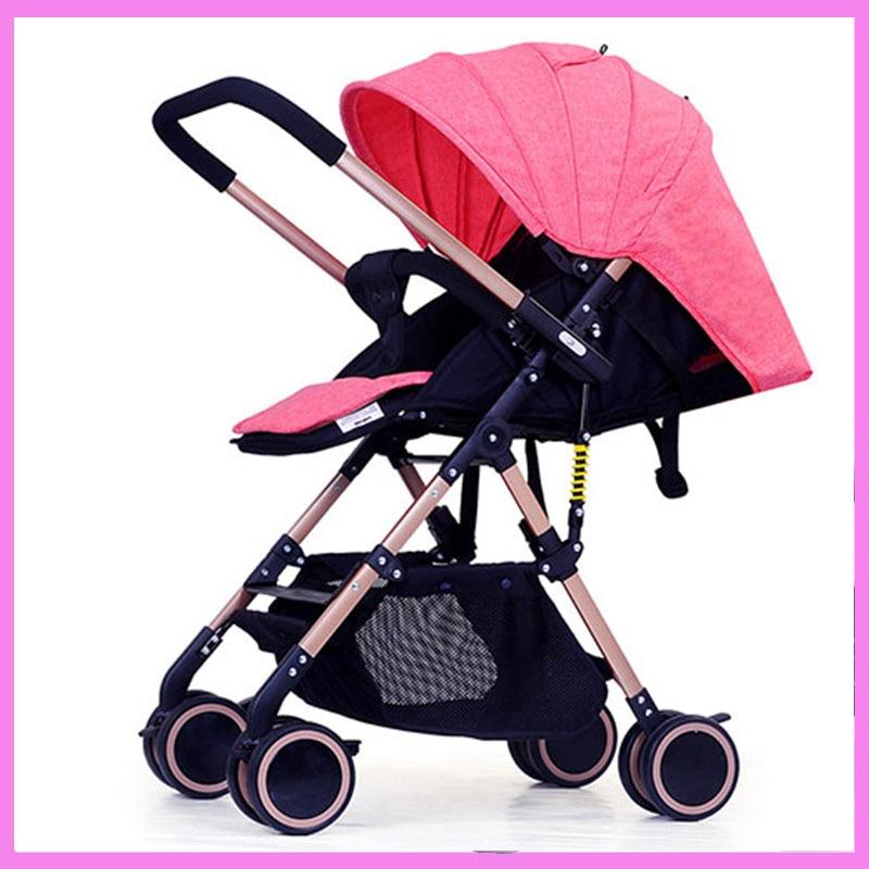 Adorbaby Pouch Kids Travel System High Land Scape Lightweight Baby Stroller Reverse Handle Armrest Storage Basket Pram Pushchair