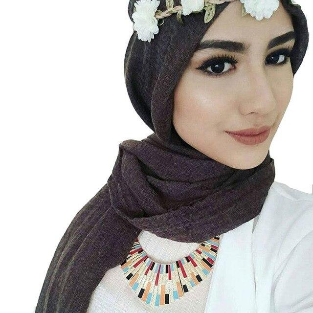 Muslim women crinkle hijab scarf c
