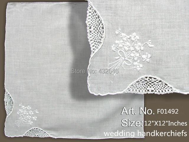 Pañuelos De Las Moda 12 Unids Lote X12 Blanco 100