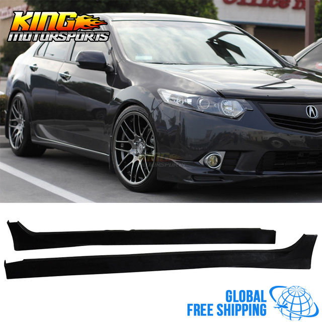 For Acura TSX Dr Dr Poly Urethane PU Side Skirts Bodykit - Acura tsx body kit