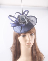 15 Colors Classic Sinamay Material Fascinator Base Headpiece Show Hair Accessories Cocktail Hat Suit For All