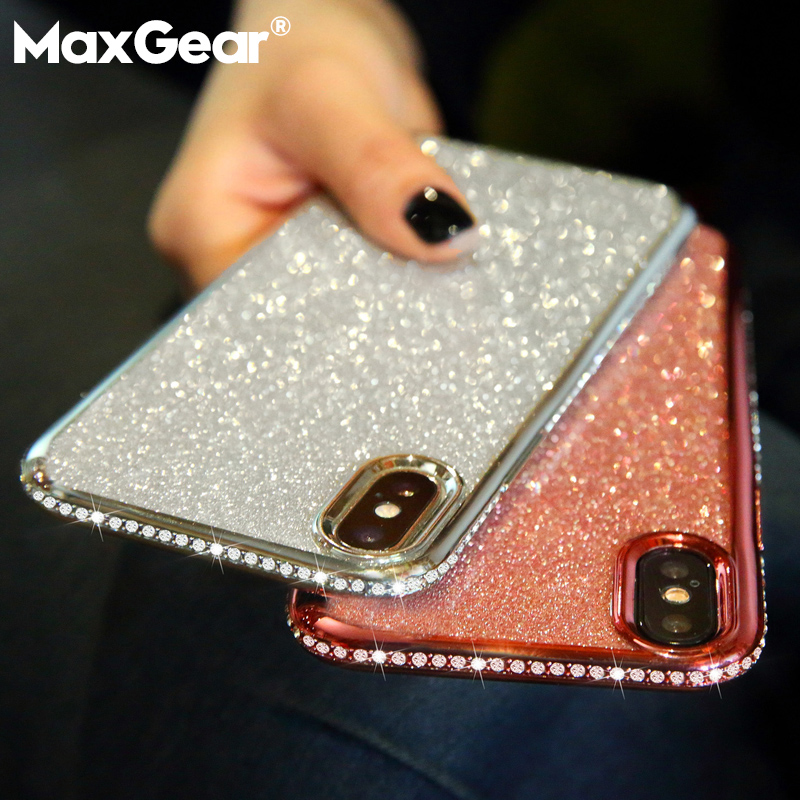Rhinestone Glitter Case for Apple iPhone 6 6S 7 8 Plus X
