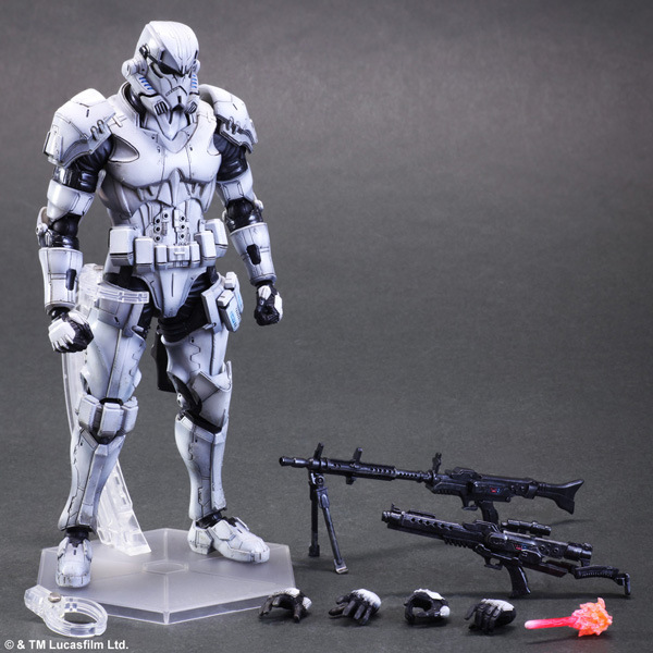 Star Wars Action Figure Play Arts Kai Imperial Stormtrooper Collection Model Toy PLAY ARTS Star Wars Stormtrooper Playarts Doll star wars action figure play arts kai boba fett darth vader stormtrooper maul model toy play arts star wars playarts doll