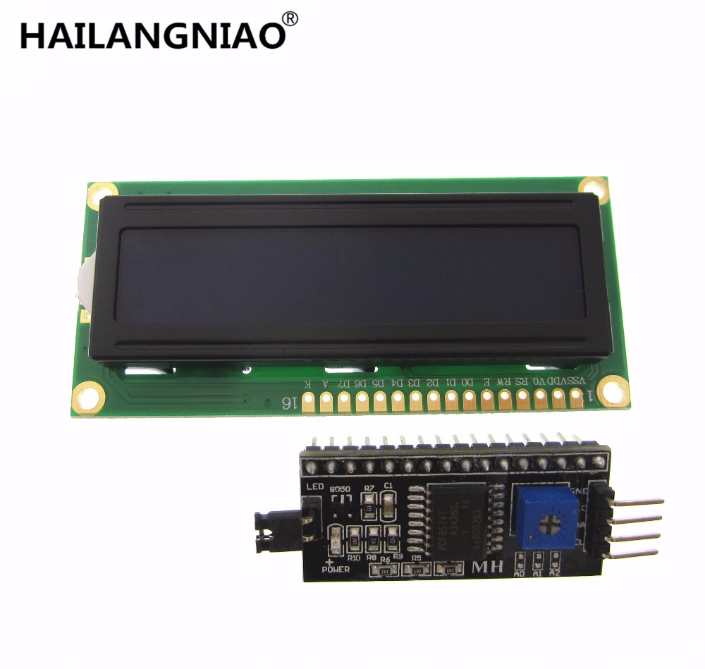 5 set IIC/I2C + LCD 1602 Blue Backlight LCD Display Adapter Plate Integrated Circuits