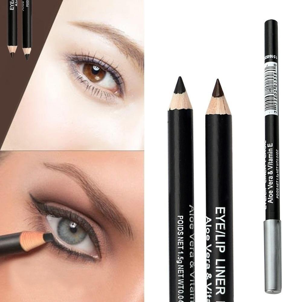 Moda Profesjonalny Makijaż Czarny Brązowy Eyeliner Ołówek Do Brwi Wodoodporny Trwały Uroda Akcesoria Narzędziowe