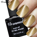 Vrenmol 1pcs UV Glue Nail Polish Manicure LED Cats Eye Healthy Cat Eye Nail And Magnet Stick No-cleaning Top Base Coat