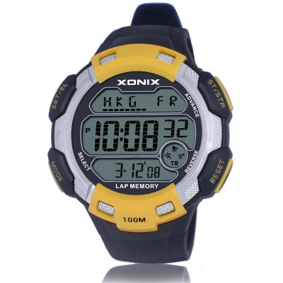 New Brands Big dial digital watch 100M Waterproof Hourly Chime Alarm watch  World Multiple Time Zone Outdoor Sport Watch Men  CQ