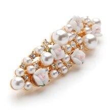 Pearl Crystal Hair Clips