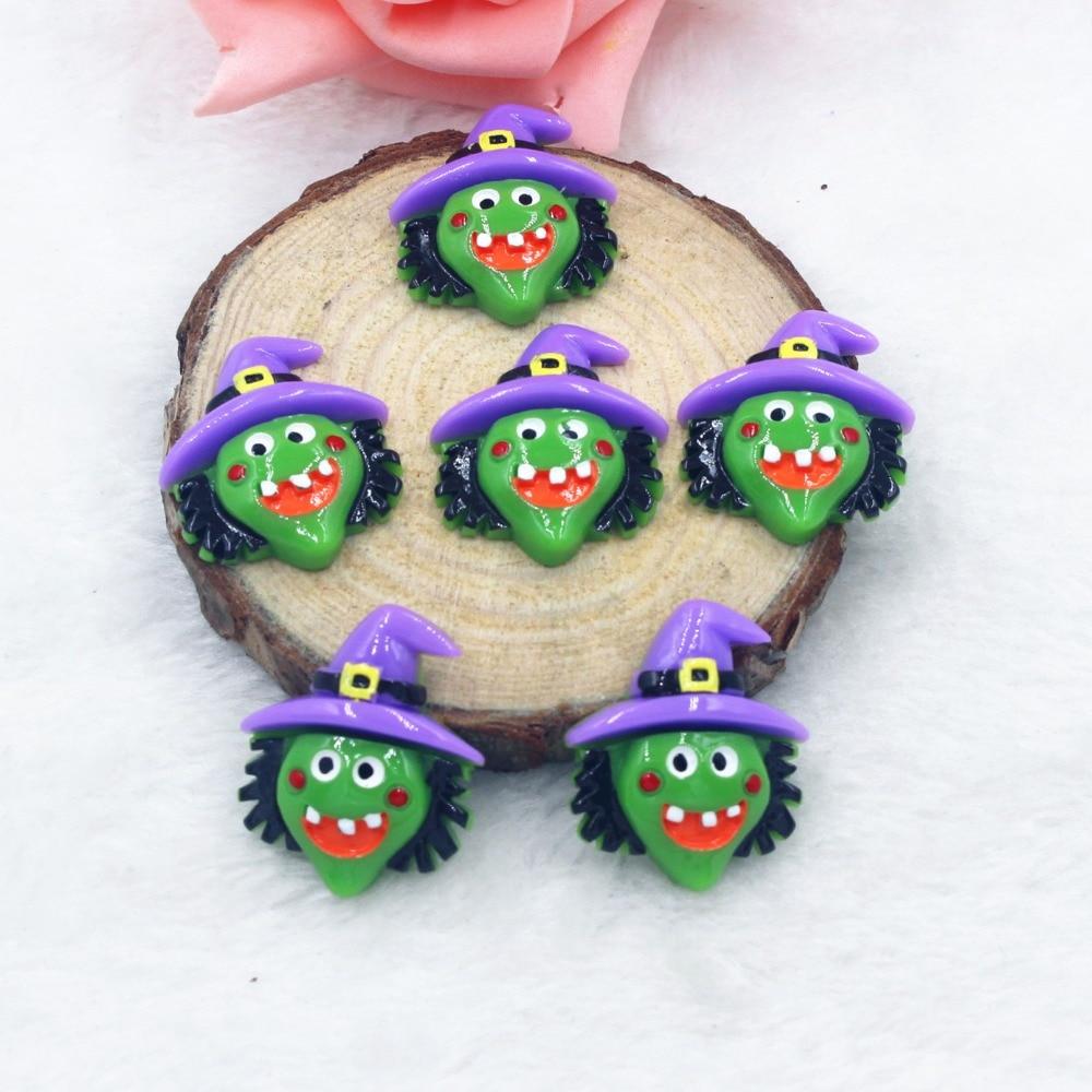 30pcslot kawaii resin Halloween  flat back resin cabochons accessories