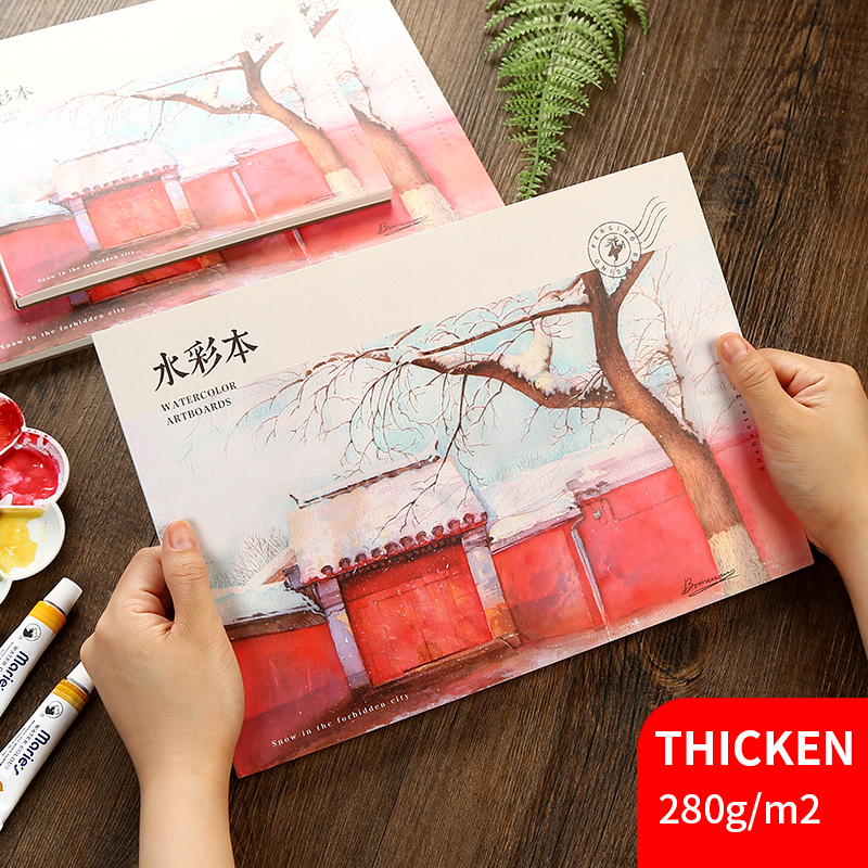 20Sheets Watercolor Painting Book 230g/m2 Watercolor Pad A3/A4/A5 Creative Postcard Sketch Hand-painted Graffiti Drawing Book