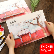 20Sheets Watercolor Painting Book 230g/m2 Pad A3/A4/A5 Creative Postcard Sketch hand-painted Graffiti Drawing