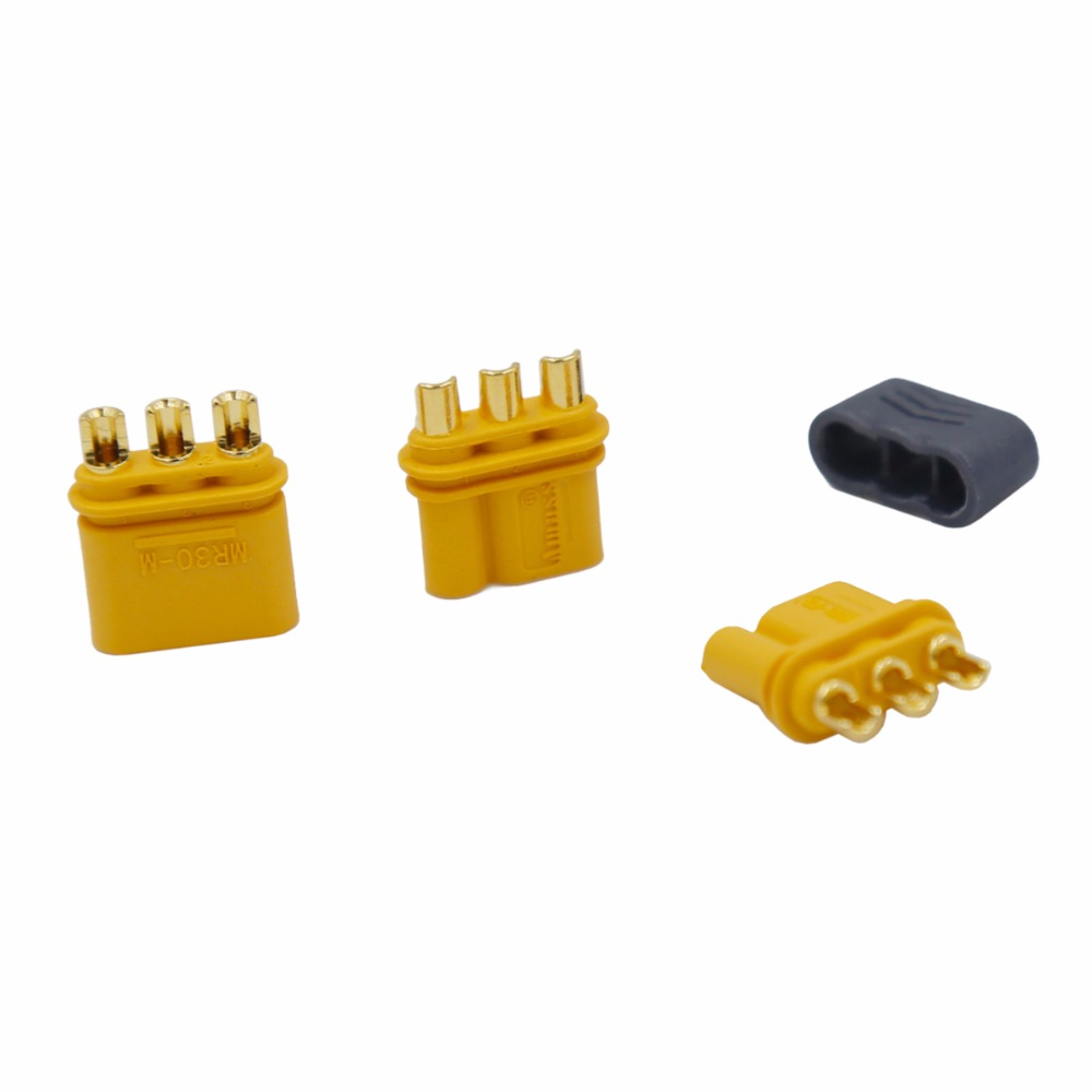 Image 4 - 100pairs Amass MR30 MR30 M Connector Plug Upgrated of XT30 Female & Male Gold Plated For RC Parts 40%Off-in Connectors from Lights & Lighting