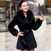 New Free shipping  Ultralarge  fur coat fox fur women's overcoat patchwork medium-long fur leather fur coat