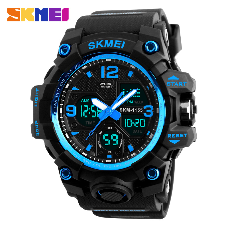 2017 Sport Watch Men SKMEI Brand Luxury Men s Analog Quartz Digital LED Electronic Watch Male