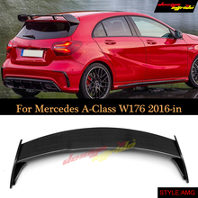 W176 Tail Spoiler for Mercedes Benz A180 A200 A250 Carbon Fiber spoiler Trunk Rear Bumper wing A45 AMG Style 16+