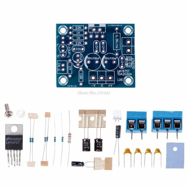 20 W HIFI Mono Kênh LM1875T Stereo Board Khuếch Đại Âm Thanh Mô-đun Bộ Dụng Cụ DIY Mạch Tích Hợp