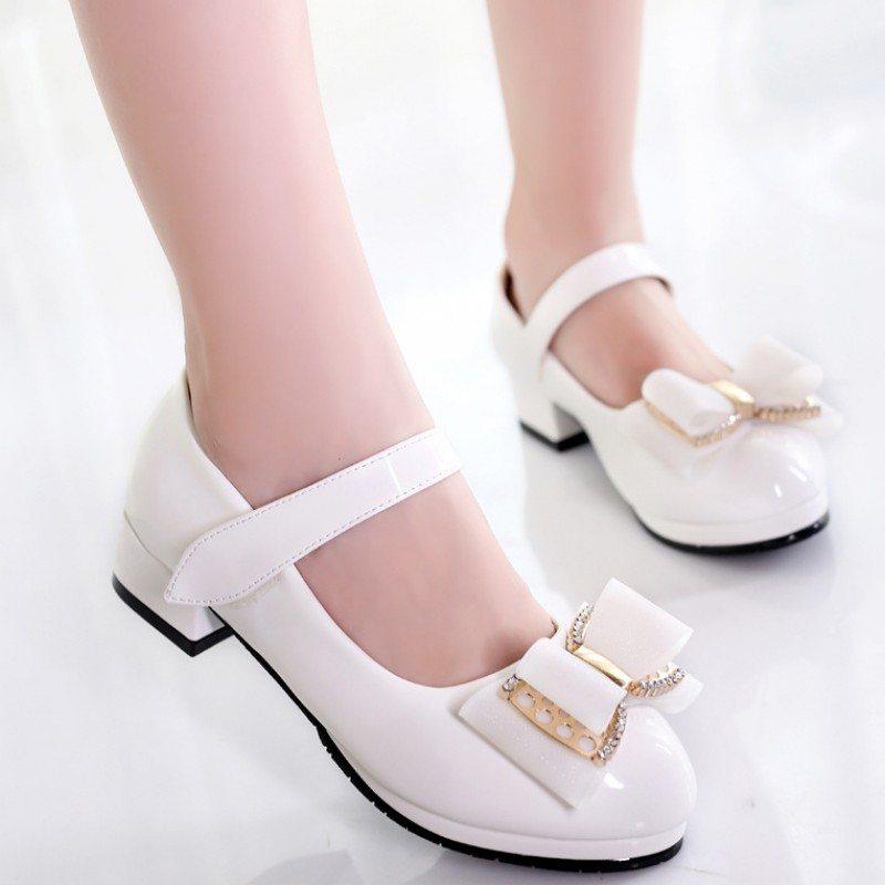 Spring Autumn Girls Leather Shoes PU