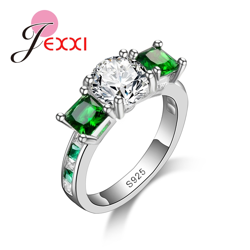jexxi big discount wedding promotion 925 sterling silver rings for women cubic zirconia fashion jewelry free - Discounted Wedding Rings