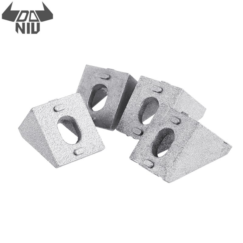 DANIU 4Pcs/set 2020 Aluminum Profiles Corner Angle Bracket Connector for V-Slot 3D Printer Linear Guides