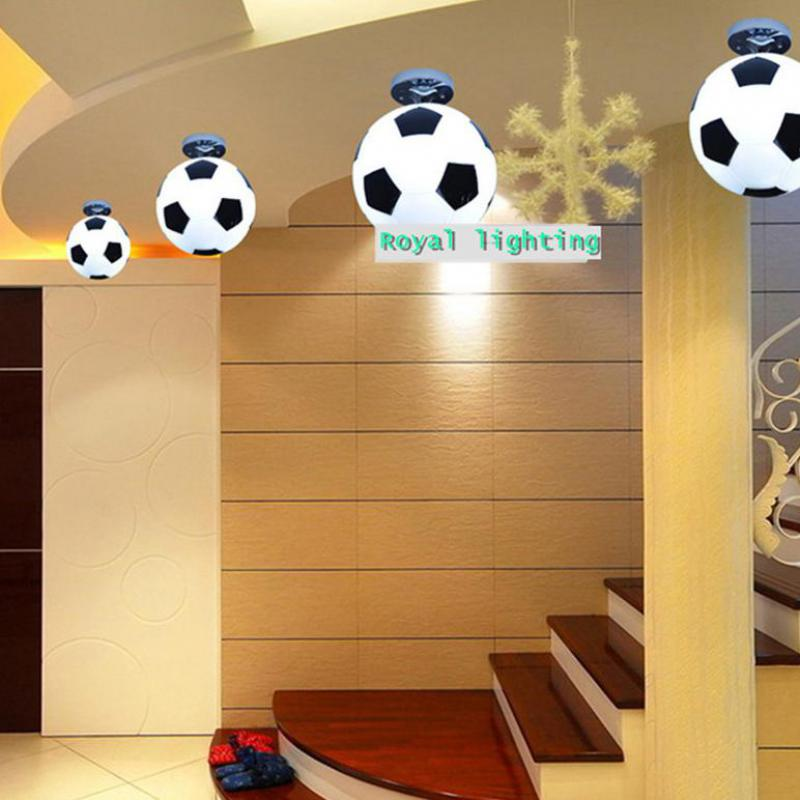 Bar football ceiling lamp basketball indoor lighting glass ceiling lights soccer ball children room bedroom kids Light Lampara hghomeart kids led pendant lights basketball academy lights cartoon children s room bedroom lamps lighting