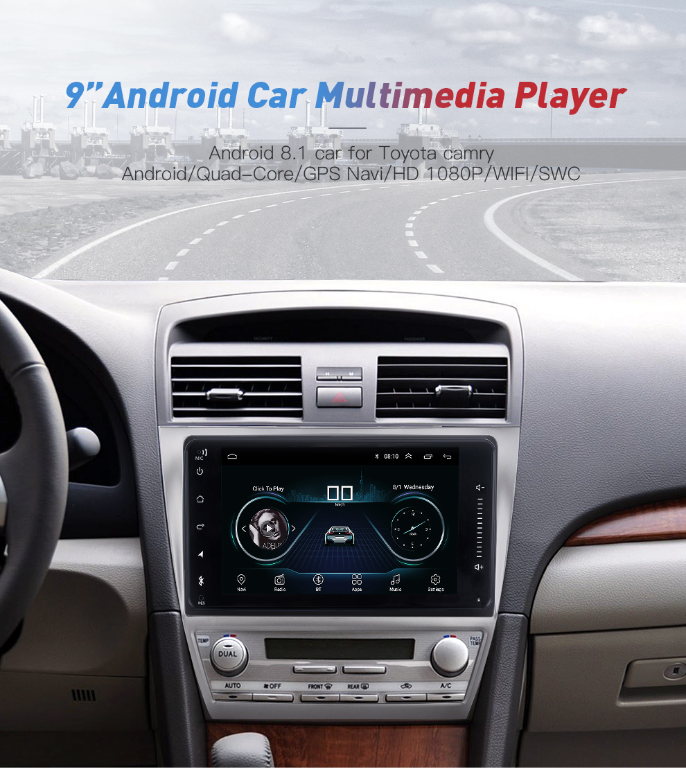 Newest Android 8.1 car dvd for toyota corolla 2 Din Universal car radio with navigation Bluetooth Wifi car stereo gps player (2)