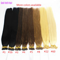 1g/s 100g Human Remy Hair Ash Brown Platinum Blonde Straight Custom Capsule Keratin Stick I-tip Human Hair Extensions